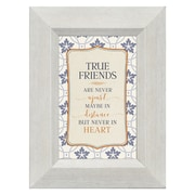 True Friends Are Never Apart, Maybe in Distance but Never in Heart  Framed Textual Art on Glass