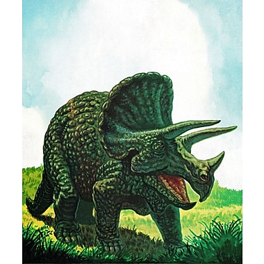 Zoomie Kids 'Ceratopsian' Painting Print on Wrapped Canvas