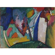 Latitude Run 'The Waterfall' by Wassily Kandinsky Oil Painting Print on Canvas
