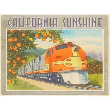Red Barrel Studio 'California Sunshine' Vintage Advertisement on Canvas