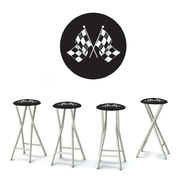 Best of Times Have At It Boys 30'' Bar Stool w/ Cushion (Set of 4)