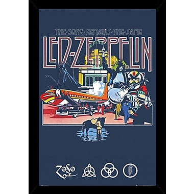 East Urban Home 'Led Zeppelin - Remains' Rectangle Wood Framed Graphic Art Print Poster