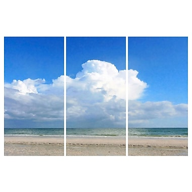 'Where The Ocean Meets The Sky Triptych' Photographic Print Multi-Piece Image on Canvas