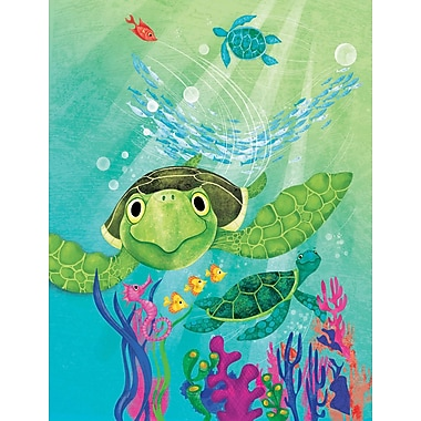 Zoomie Kids 'Sea Turtle' Acrylic Painting Print on Wrapped Canvas