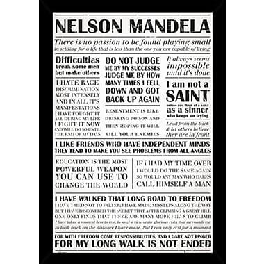 East Urban Home 'Nelson Mandela Quotes' Plastic Framed Textual Art, Poster