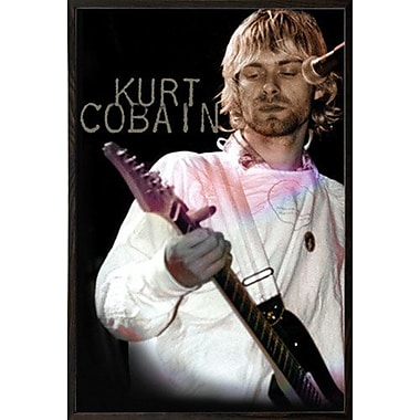 East Urban Home 'Kurt Cobain - Cook' Wood Framed Graphic Art Print Poster