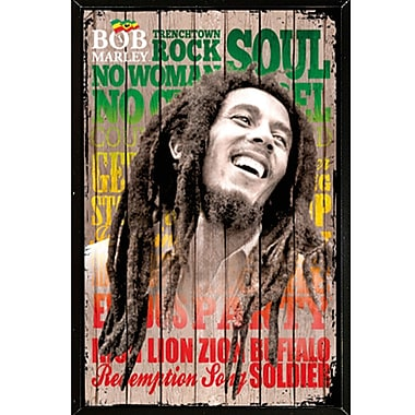 East Urban Home 'Bob Marley - Laugh' Rectangle Framed Graphic Art Print Poster