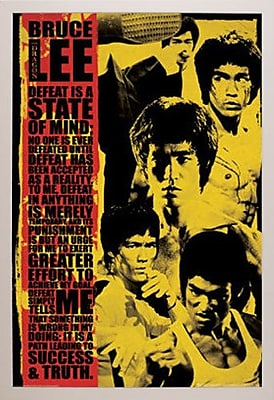 East Urban Home 'Bruce Lee - Montage' Rectangle Framed Graphic Art Print Poster