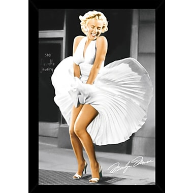 East Urban Home 'Marilyn Monroe Seven Year Itch' Rectangle Wood Framed Graphic Art Print Poster