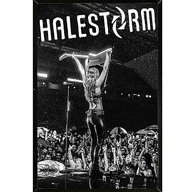 East Urban Home 'Halestorm - Lzzy Hale' Rectangle Plastic Framed Graphic Art Print Poster