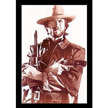 East Urban Home 'Clint Eastwood' Rectangle Wood Framed Graphic Art Print Poster