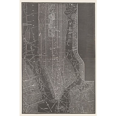 Alcott Hill '1884 Trow Map South of 110th St Manhattan' Graphic Art Print on Canvas
