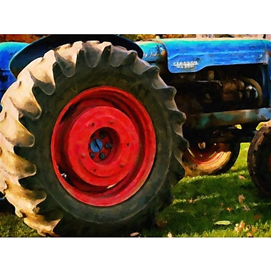 August Grove 'Farm Tractor Close Up' Photographic Print on Canvas
