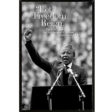 East Urban Home 'Mandela Speech' Rectangle Framed Graphic Art Print Poster