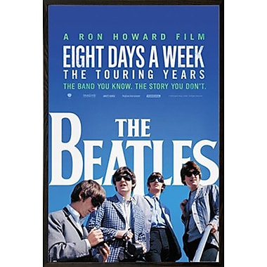 East Urban Home 'The Beatles - Movie' Wood Framed Graphic Art Print Poster