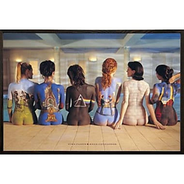East Urban Home 'Pink Floyd Back' Rectangle Wood Framed Graphic Art Print Poster