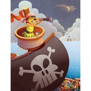 Zoomie Kids 'Pirate Girl' Acrylic Painting Print on Wrapped Canvas