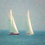 Highland Dunes 'Sailing' Print on Canvas