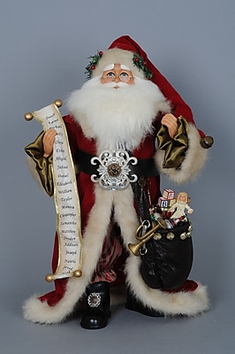 Karen Didion Christmas Old World Santa Figurine WYF078281433963