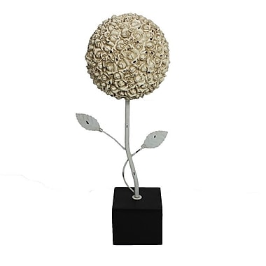 One Allium Way Floral Polyresin Topiary Sculpture