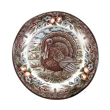 The Holiday Aisle Turkey 9.75'' Rim Soup Bowl