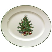 The Holiday Aisle Original Christmas Tree Traditional Oval Platter; Large