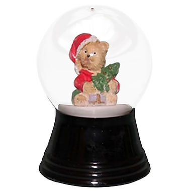 The Holiday Aisle Perzy Teddy Santa Snow Globe