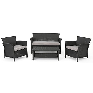 Orren Ellis Logan Outdoor 4 Piece Rattan Sofa Set
