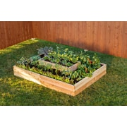 YardCraft 3-Tier 3.5 ft x 5 ft Wood Raised Garden