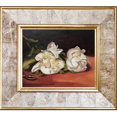'Branch of White Peonies w/ Pruning Shears'