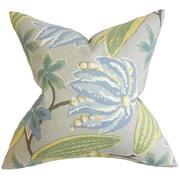 Bayou Breeze Bryleigh Floral Cotton Blend Floor Pillow; Blue