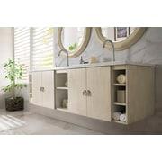 Ivy Bronx Hobbs 72'' Double Vanilla Oak Bathroom Vanity Set