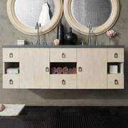 Ivy Bronx Hobbs 60'' Double Vanilla Oak Bathroom Vanity Set