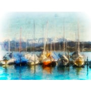 Longshore Tides 'Swiss Sailing' Print on Canvas