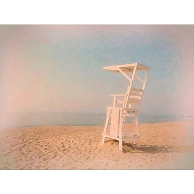 Highland Dunes 'Lifeguard Chair' Graphic Art Print on Canvas