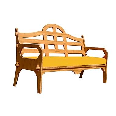 Loon Peak Burliegh Solid Sofa; Yellow