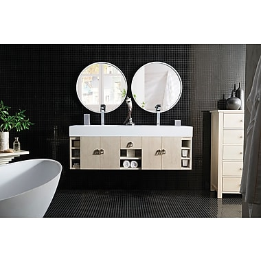 Ivy Bronx Villegas 59'' Double Vanilla Oak Bathroom Vanity Set