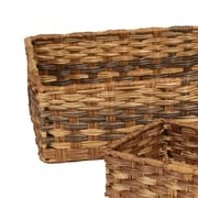 Rebrilliant Handwoven Nesting Storage Plastic 4 Piece Basket Set