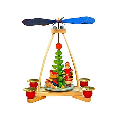 The Holiday Aisle Graupner Santa w/ Toys Pyramid