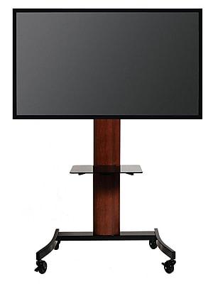 Transdeco Flat Panel 35'' TV Stand; Dark Oak/Black