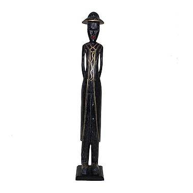 Bloomsbury Market Wooden Standing Colonial Figurine