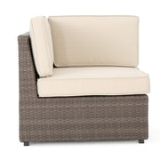 Brayden Studio Hults Outdoor 12 Piece Rattan Sectional Set w/ Cushions