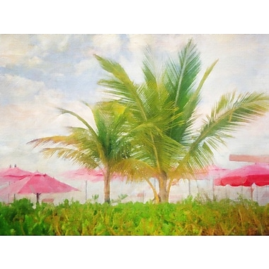 Bay Isle Home 'Palms and Pink' Graphic Art Print on Canvas
