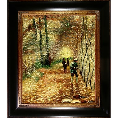'The Shoot (The Avenue in the Park, Montgeron)' by Claude Monet Framed Oil Painting Print on Canvas