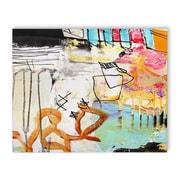 Latitude Run 'Classroom Chaos' Rectangle Painting Print on Canvas