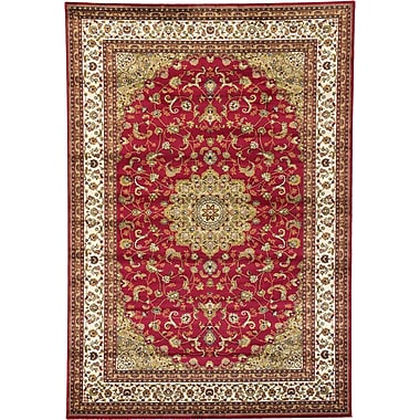 Charlton Home Malone Red Area Rug; 6'7'' x 9'6''