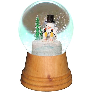 The Holiday Aisle Perzy Snowman Wood Snow Globe