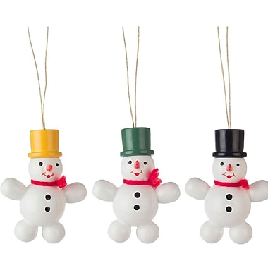 The Holiday Aisle Dregeno Assorted Wood Snowmen Ornament (Set of 3)