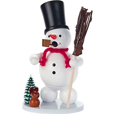 The Holiday Aisle Dregeno Wood Snowman Incense Burner
