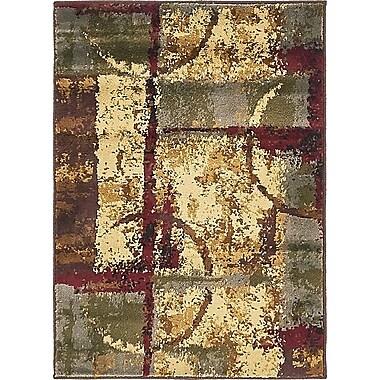 Bloomsbury Market Jaidan Brown/Beige Abstract Area Rug; 8' x 10'